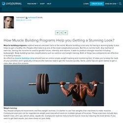 How Muscle Building Programs Help you Getting a Stunning Look?: royharper1