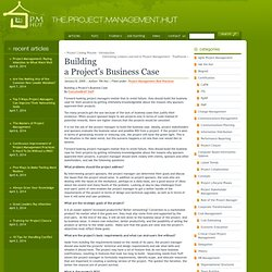 Building a Project's Business Case