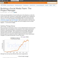 Building a Social Media Team: The Project Manager