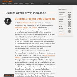 Building a Project with Mezzanine