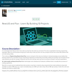 ReactJS and Flux - Learn By Building 10 Projects: vernonemrit