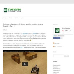 Building a Raspberry Pi Robot and Controlling it with Scratch - Part 1