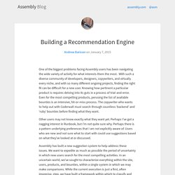 Building a Recommendation Engine