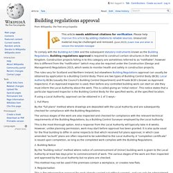 Building regulations approval