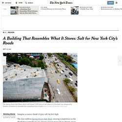 A Building That Resembles What It Stores: Salt for New York City's Roads
