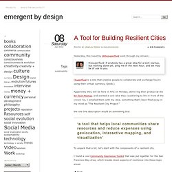 A Tool for Building Resilient Cities