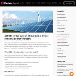 AESCSF in the pursuit of building a Cyber Resilient Energy industry