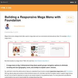 Building a Responsive Mega Menu with Foundation