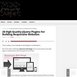 28 High-Quality jQuery Plugins For Building Responsive Websites