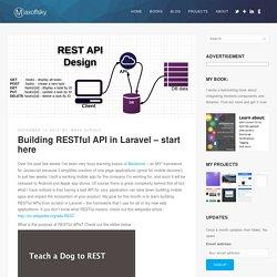 Building RESTful API in Laravel - start here - Maxoffsky