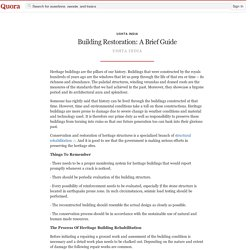 Building Restoration: A Brief Guide