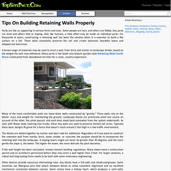 Tips On Building Retaining Walls Properly