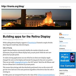 Building apps for the Retina Display