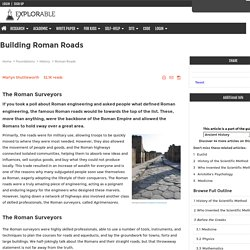 Building Roman Roads - The Roman Surveyors