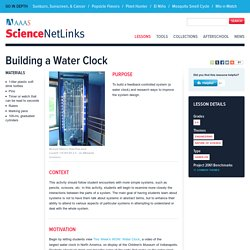 Building a Water Clock