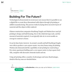 Building For The Future?