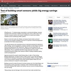 Test of building smart sensors yields big energy savings