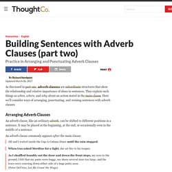 Building Sentences With Adverb Clauses (Part Two)