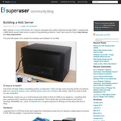 Building a NAS Server - Super User Blog