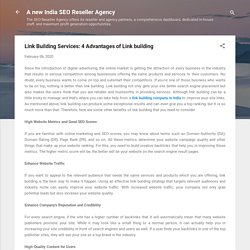 Link Building Services: 4 Advantages of Link building