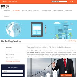 Quality List Building Services in California