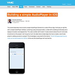 Building a simple AudioPlayer in iOS