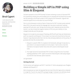Building a Simple API in PHP using Slim & Eloquent