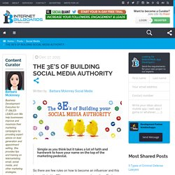 The 3E's of Building Social Media Authority