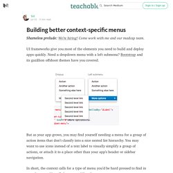 Building better context-specific menus — How We Build Fedora