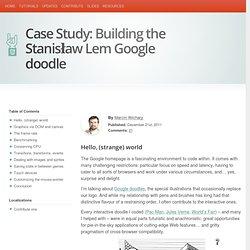 Case Study: Building the Stanisław Lem Google doodle
