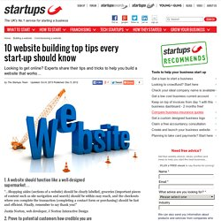 10 website building top tips every start-up should know