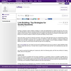 Link Building: Top Strategies for Quality Backlinks