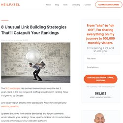 8 Unusual Link Building Strategies That'll Catapult Your Rankings