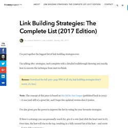 Link Building Strategies: The Complete List (2017 Edition)