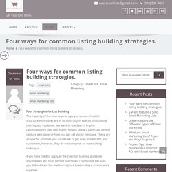Four ways for common listing building strategies. - EMAIL MARKETING JOBS