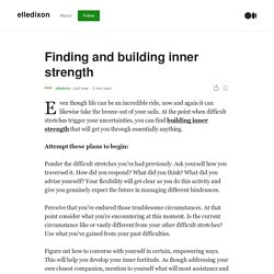 Finding and building inner strength