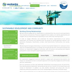 Stakeholder Management & Community Engagement - Vedanta Limited