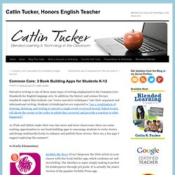 Common Core: 3 Book Building Apps for Students K-12