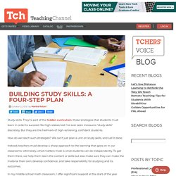 Building Study Skills: A Four-Step Plan