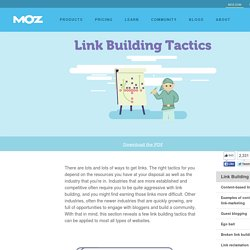 Link Building Tactics - Beginner's Guide to Link Building