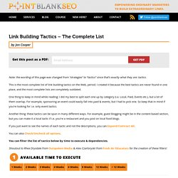 Link Building Tactics - The Complete List