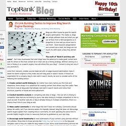 25 Link Building Tactics to Improve Blog Search Engine Rankings