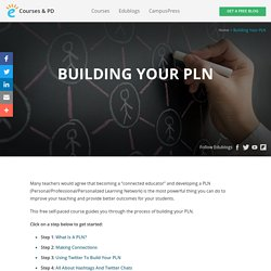 Building your PLN – Teacher Challenges