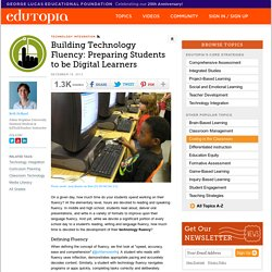 Building Technology Fluency: Preparing Students to be Digital Learners