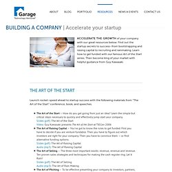 Resources :: Building A Company