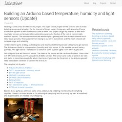 Building an Arduino based temperature, humidity and light sensors (Update)