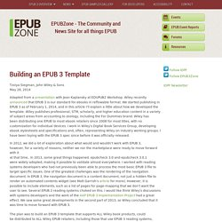 Building an EPUB 3 Template