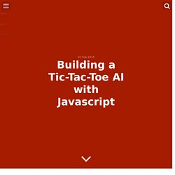 Building a Tic-Tac-Toe AI with Javascript