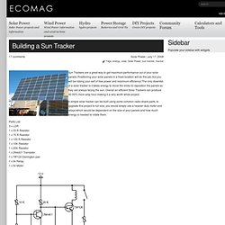 Project Free Power » Building a Sun Tracker