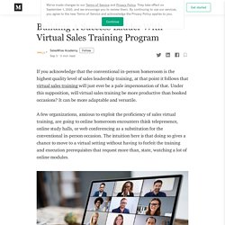 Building A Success Ladder With Virtual Sales Training Program